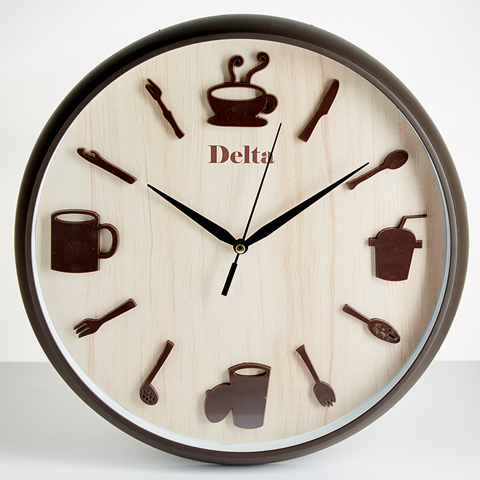 каких материалов кухонные часы фото без