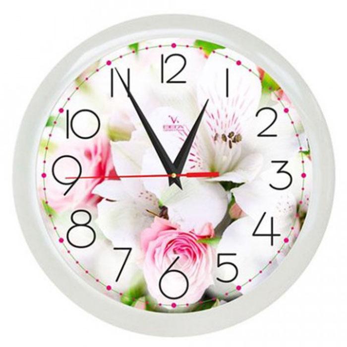Часы на кухню белые