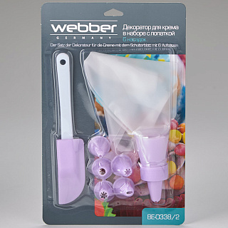 Декоратор для крема с 6 насадками в наборе с лопаткой ВЕ-0338/2